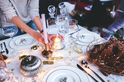 Setting The Table For An Informal Four-Course Place Setting